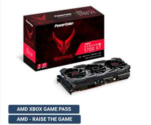 Karta Graficzna Powercolor Rx 5700 xt Red Devil + AMD Rise the game + Game pass.