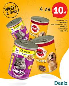 Pedigree lub Whiskas DEALZ 4 za 10