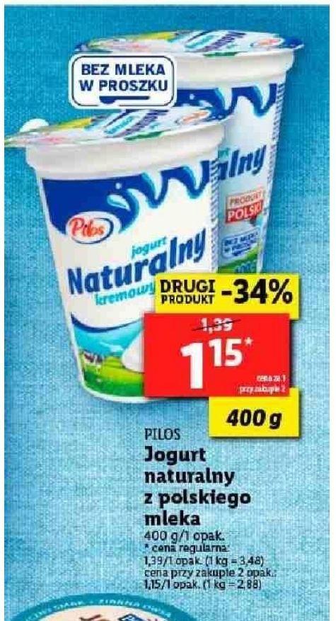 Jogurt naturalny z polskiego mleko 400g (przy zakupie 2szt.) Lidl