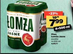 Piwo Łomża 4pak w netto