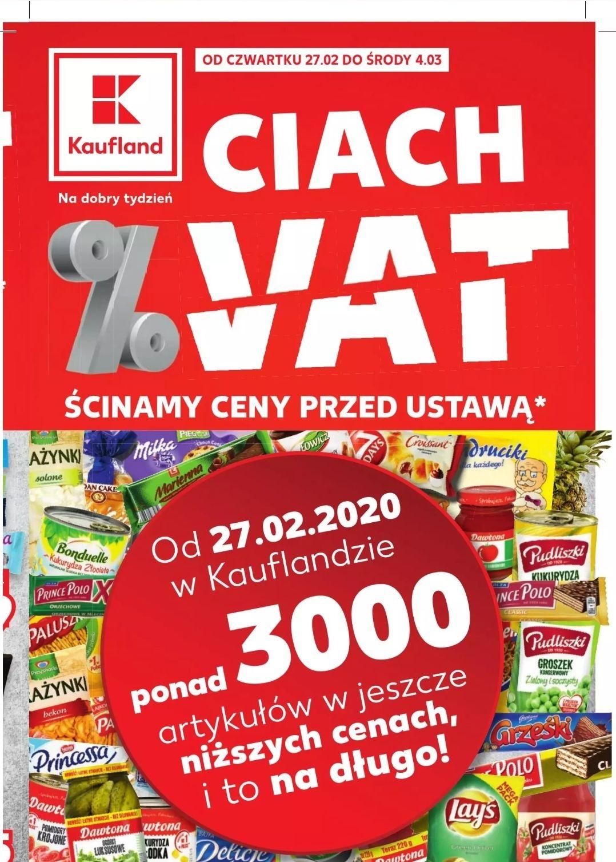Ponad 3000 produktów bez VAT - Kaufland