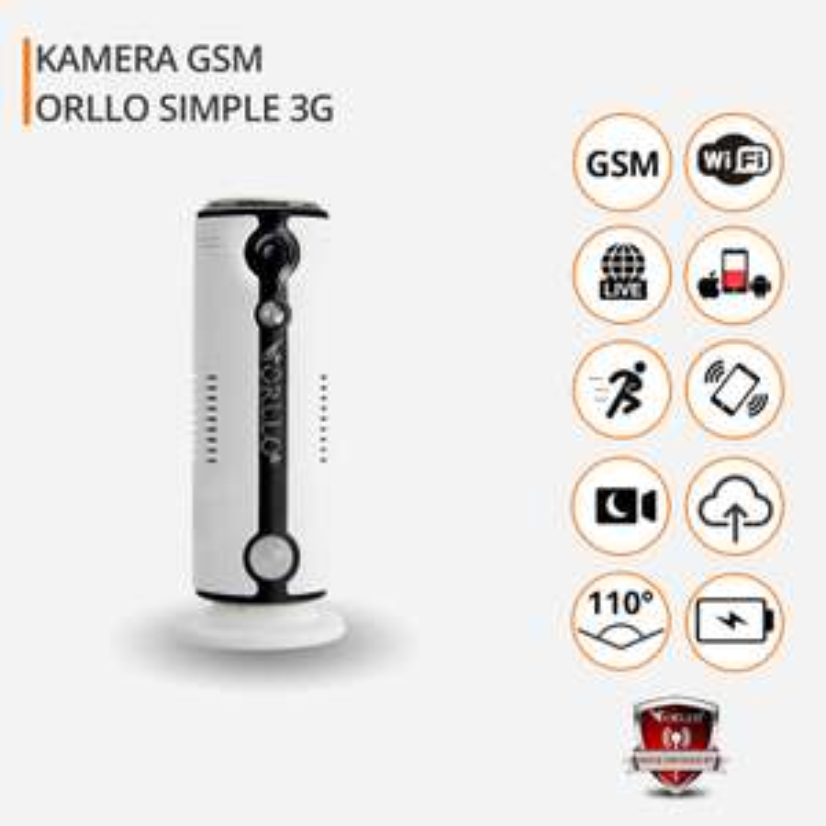 Promocja na Kamera HD Gsm Bezprzewodowa SIM Wifi/SIM 3G 4G LTE ORLLO SIMple
