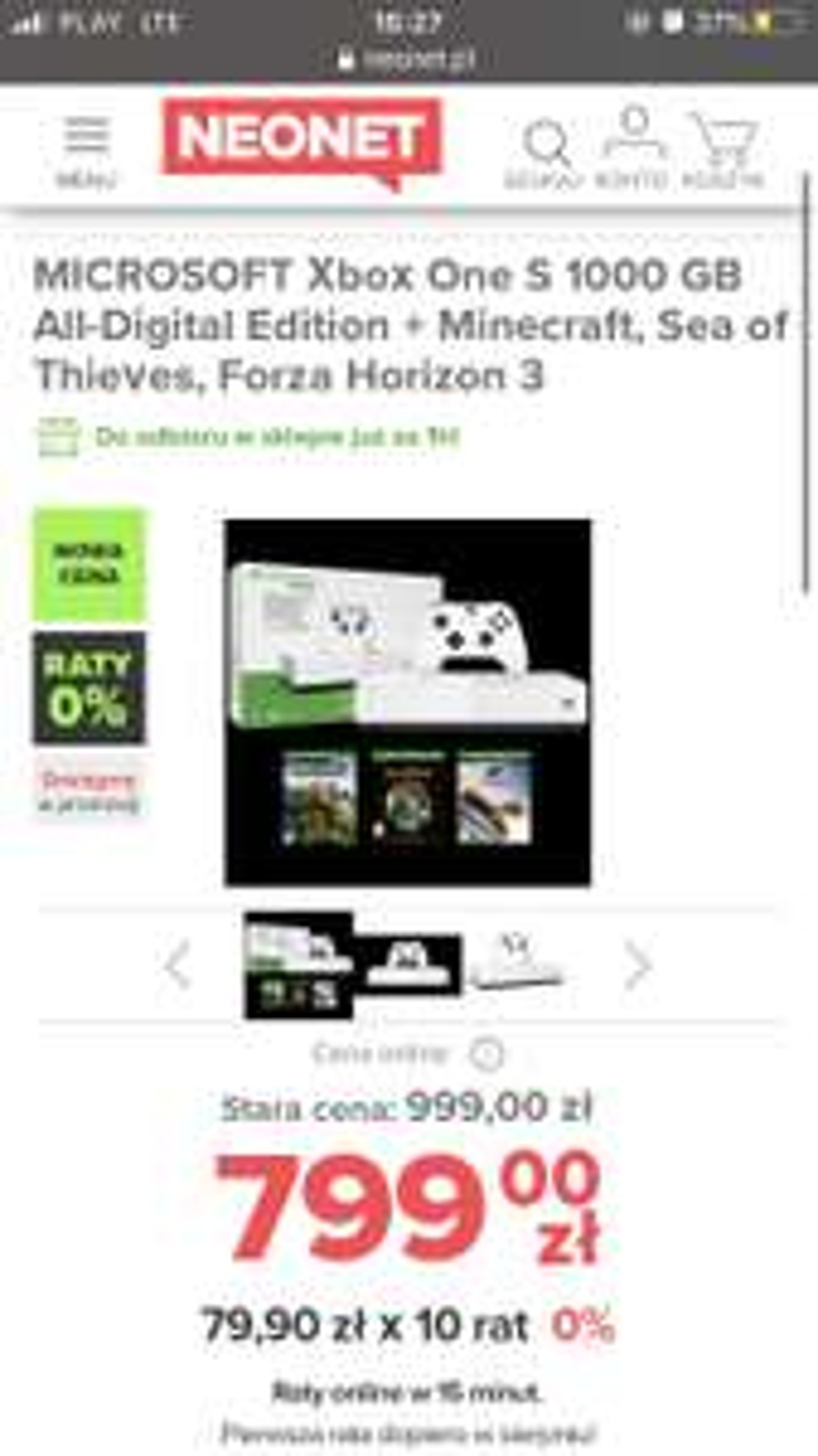 MICROSOFT Xbox One S 1TB + Forza Horizon 4 + Red Dead Redemption 2