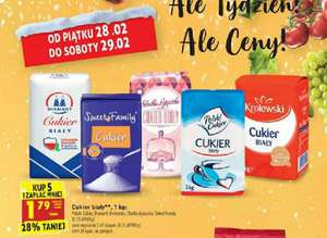 Cukier - biedronka