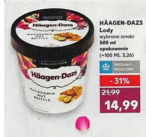 Lody HÄAGEN- DAZS 500 ml opakowanie, różne smaki @ Kaufland 27.02-04.03