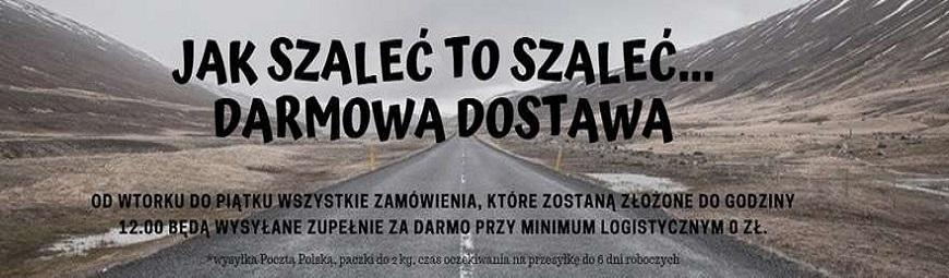 Manada.pl - darmowa dostawa Poczta Polska paczek do 2 kg zamówionych wt-pt do godz. 12