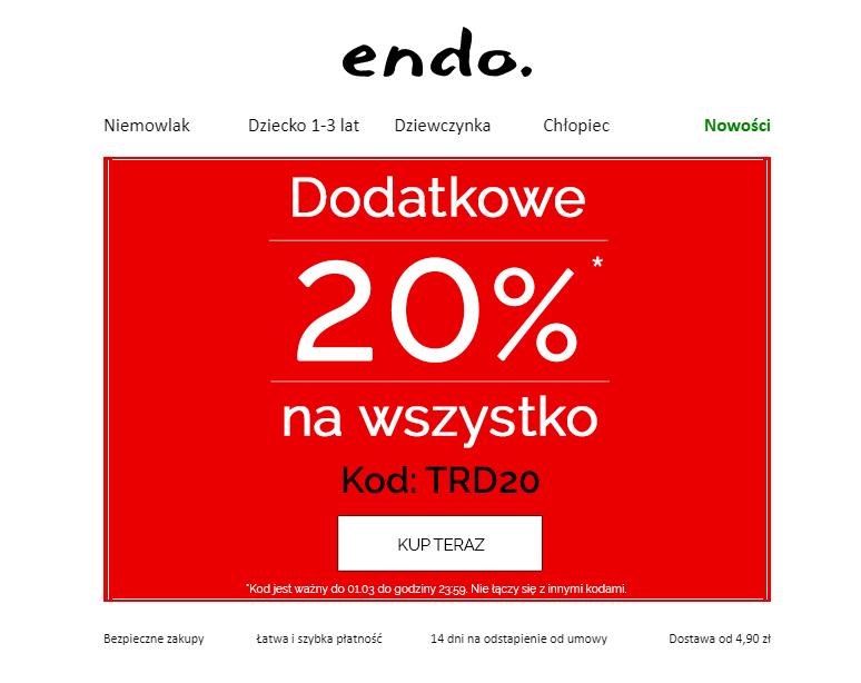 Dodatkowe 20% na wszystko w Endo