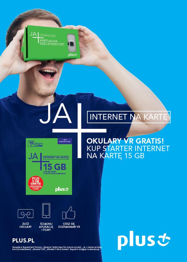 Okulary VR za darmo (przy zakupie startera JA+ Internet Na Kartę!) @ Plus