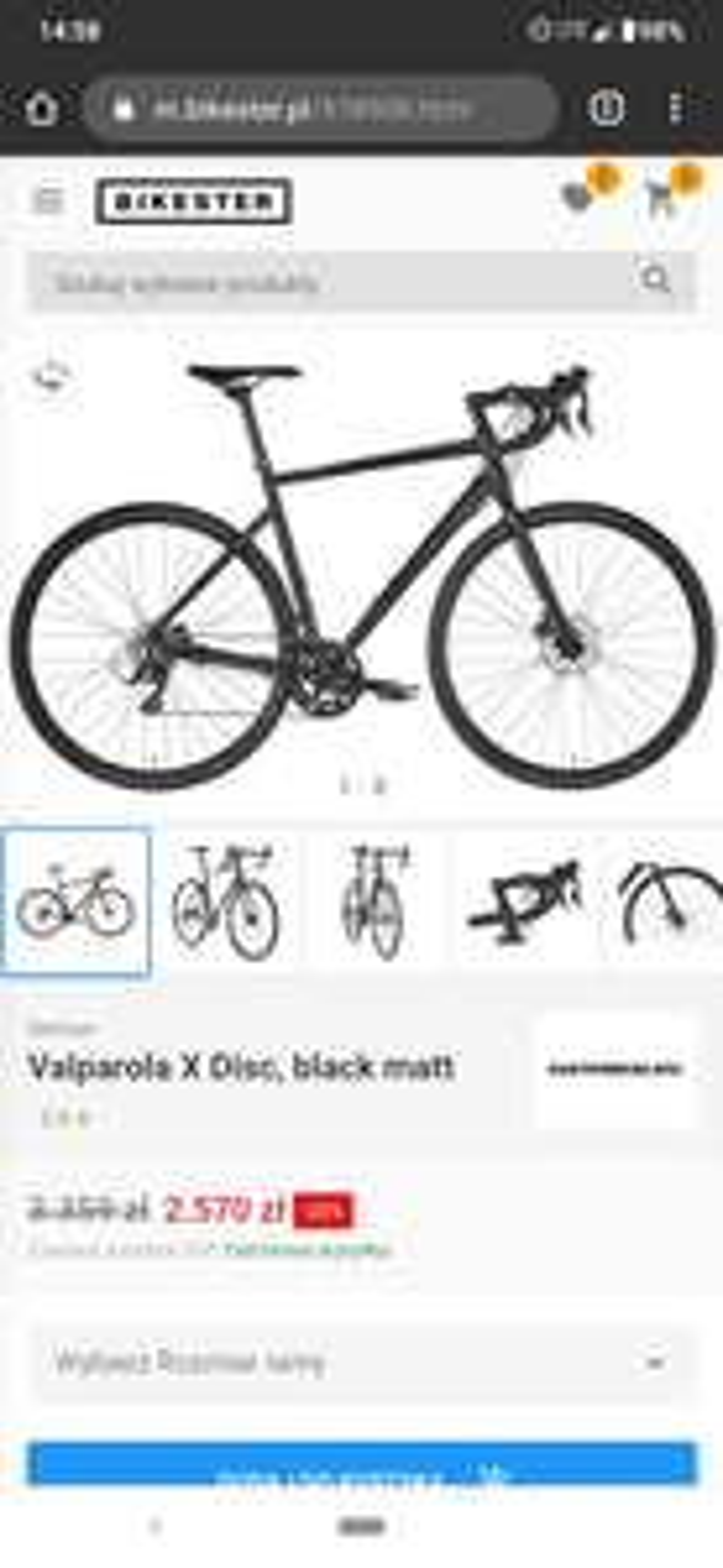 Promocja na rower, gravel (claris + sora).
