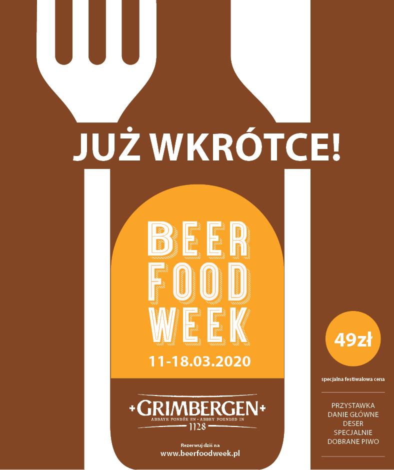 Beer Food Week / Restaurant Week 11-18 marca