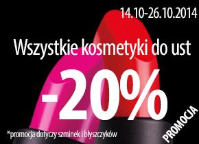 20% rabatu na szminki i błyszczyki @ Paese