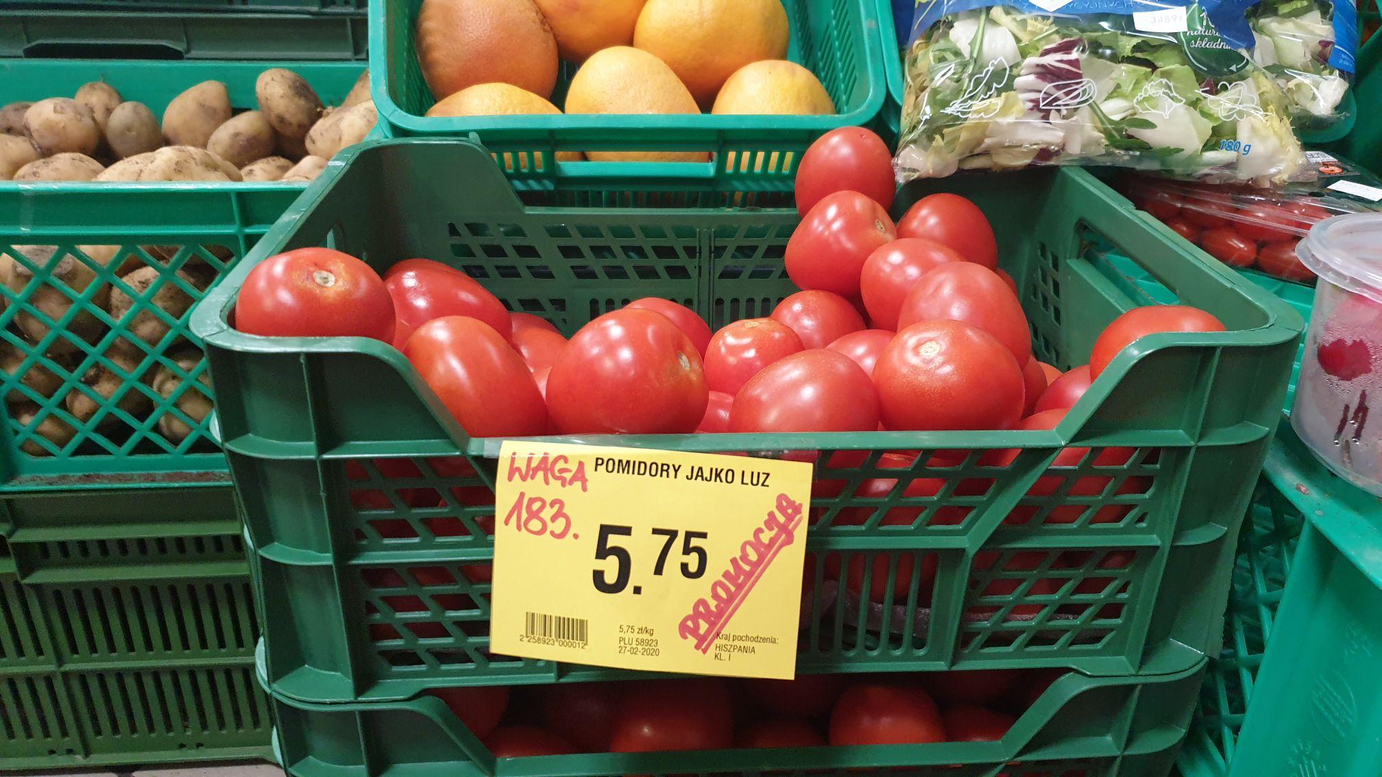 Pomidory Jajo @ Społem Biała Podlaska