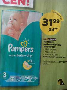 Zielone pampersy active baby-dry @netto