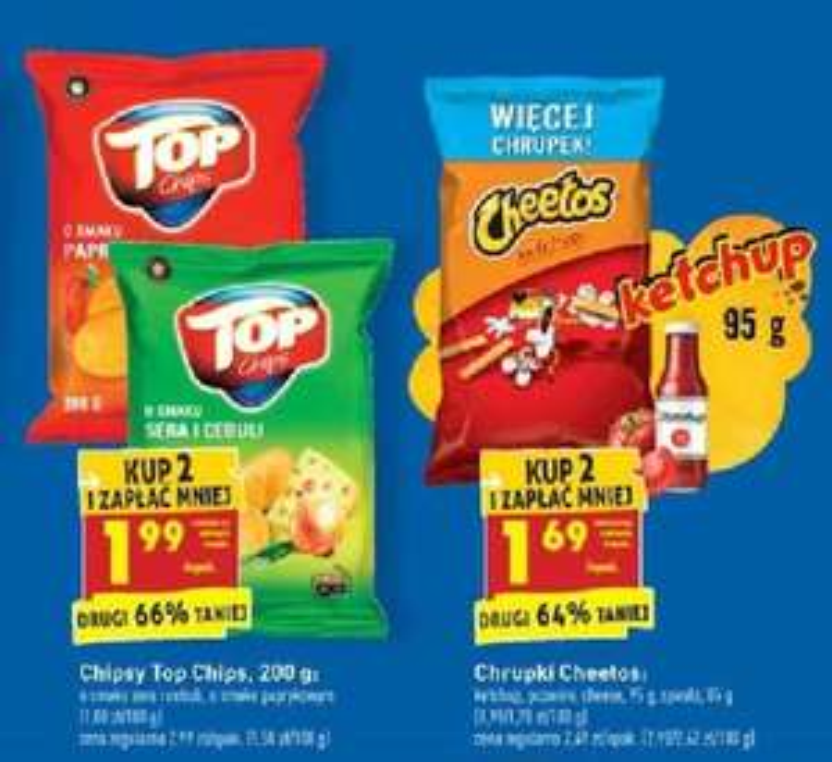 Top Chips 200g / Chrupki Cheetos - Biedronka