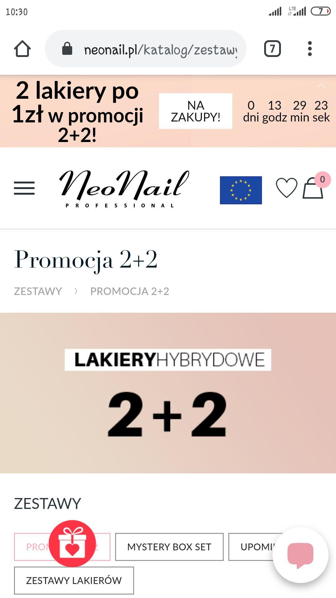 Lakiery hybrydowe NeoNail 2+2