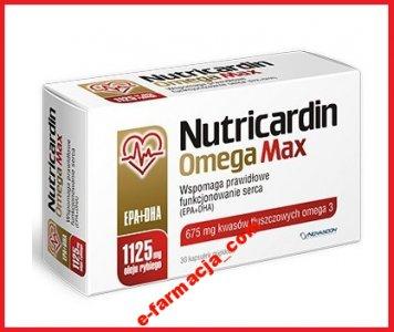 NUTRICARDIN OMEGA MAX KWASY OMEGA-3 EPA DHA @Allegro