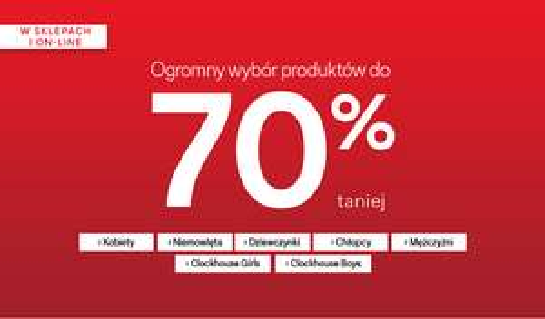 [Wyprzedaż] do -70% taniej online oraz w sklepach stacjonarnych @ C&A