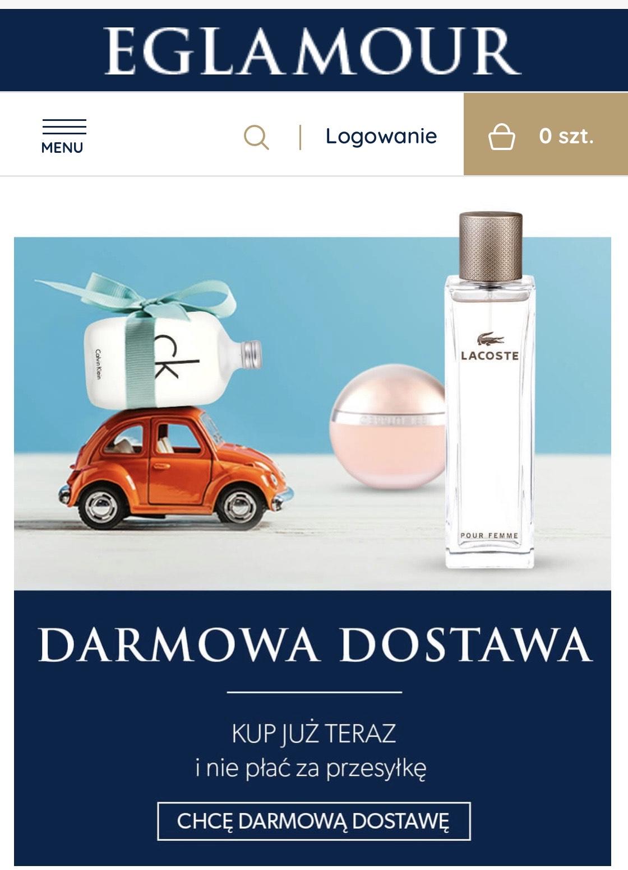 Darmowa dostawa, perfumeria e-glamour.pl MWZ 249