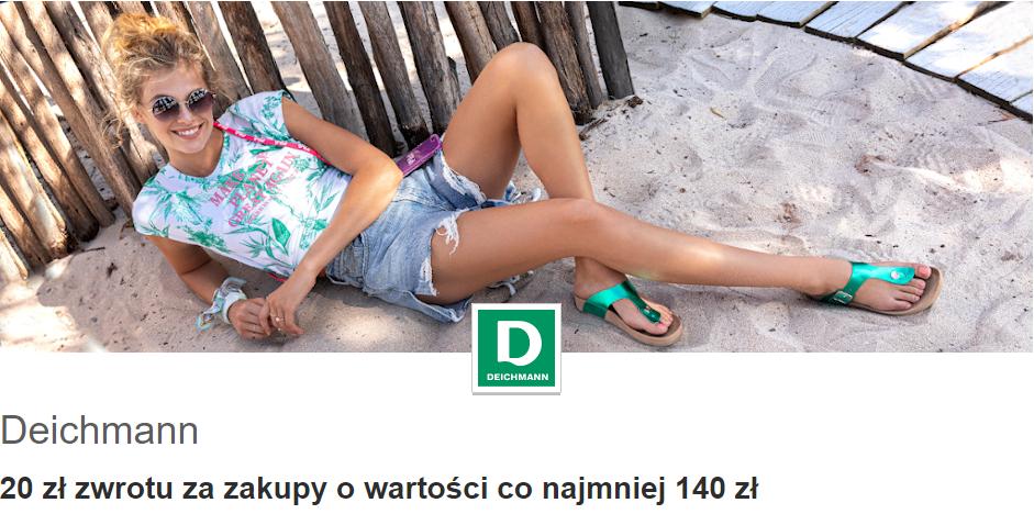 Deichmann 20 zł zwrotu za zakupy o wartości co najmniej 140zł z programu Visa Oferty