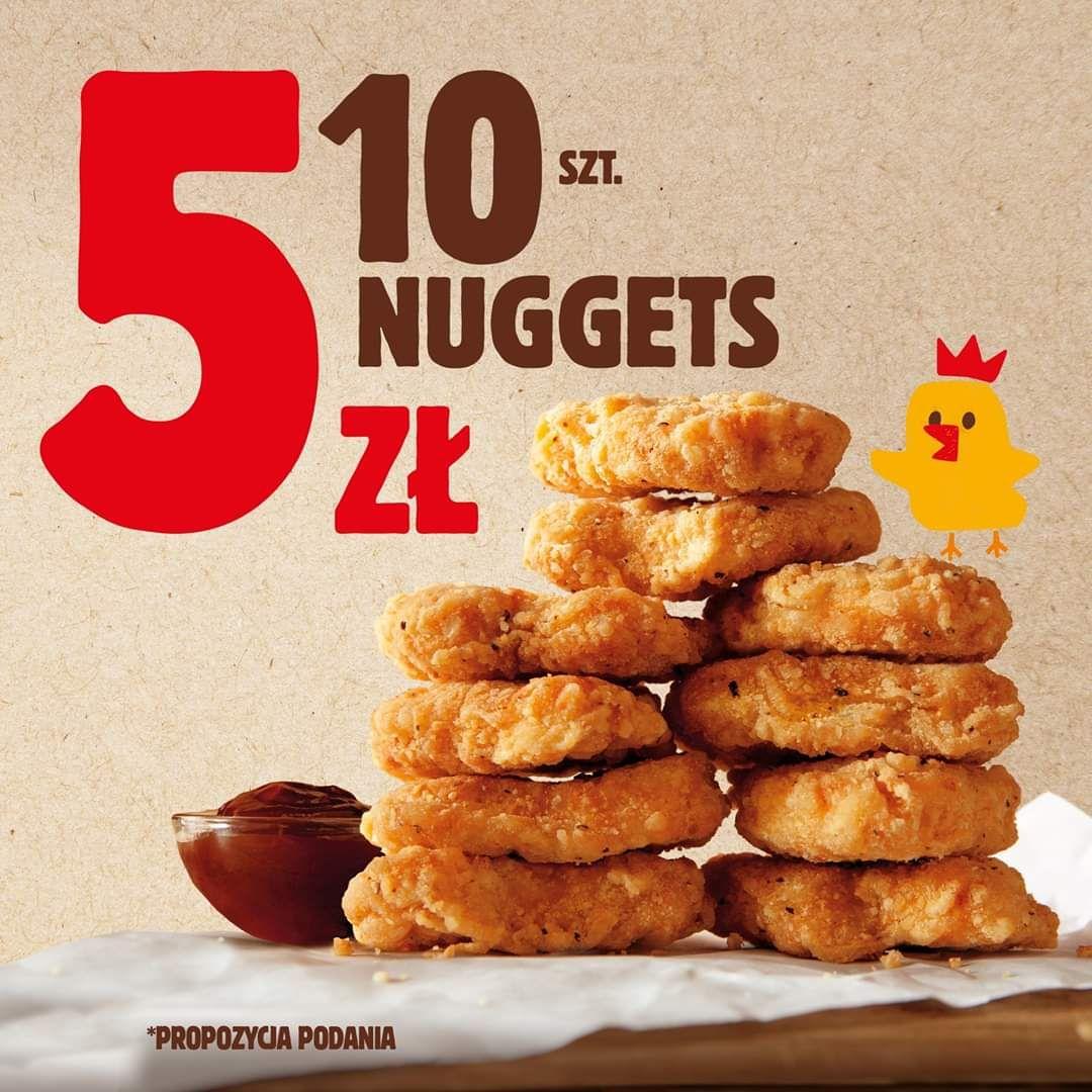 10 Nuggetsów za 5zł - Burger King