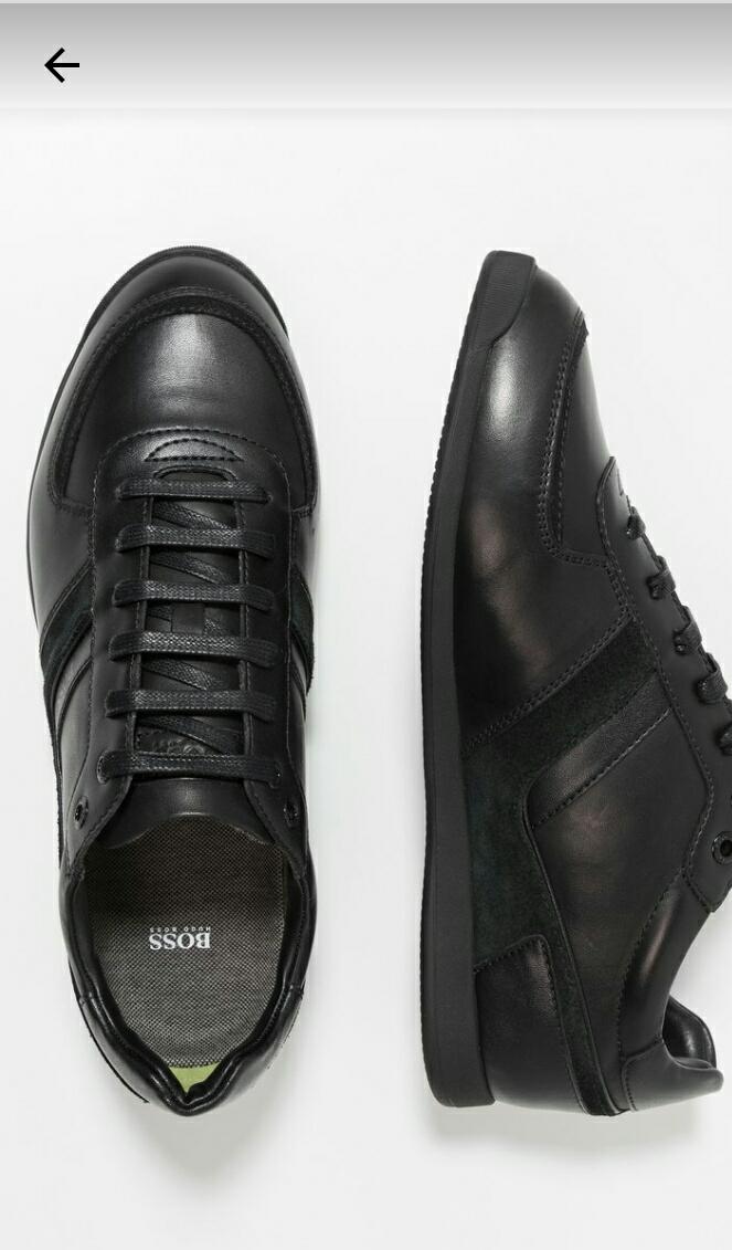 Buty męskie Hugo Boss Glaze, eleganckie, skórzane, czarne, pełna rozmiarówka