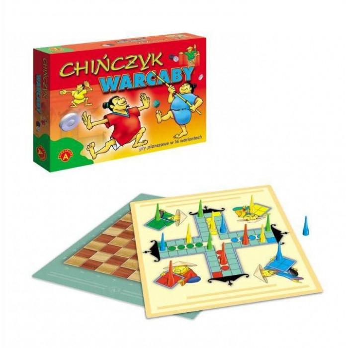 Promocja na gry planszowe: Chińczyk + Warcaby ALEXANDER