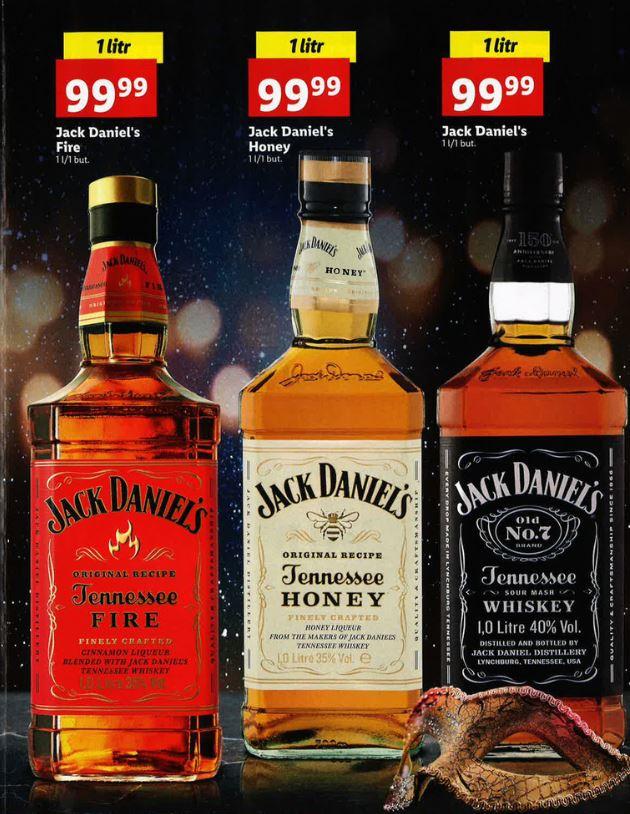 Jack Daniels 1L - różne wersje w Lidl