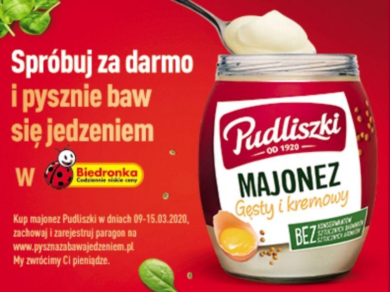 Spróbuj za darmo Majonez Pudliszki 240ml @Biedronka
