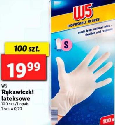 Rękawiczki lateksowe w realnej cenie w Lidlu.