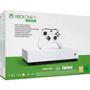 Xbox One S 1TB All Digital Edition Konsole inkl. Minecraft, Sea of Thieves, Fortnite-Skin und 2,000 V-Bucks (133EUR)