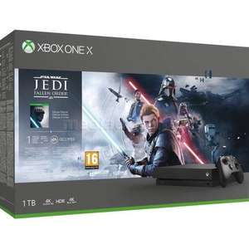 Promocja konsoli + gra: Konsola MICROSOFT XBOX ONE X 1TB + Star Wars Jedi: Upadły Zakon - Edycja Deluxe