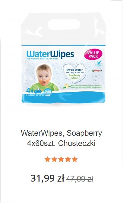 4 x WaterWipes Soapberry 60szt.