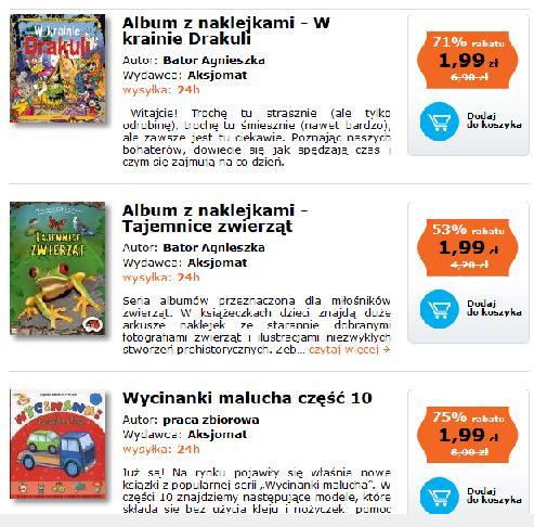 Książeczki dla dzieci po 1,99zł (do -75%) @ Dadada