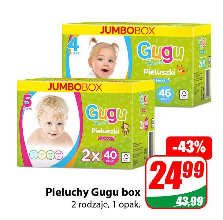 Pieluchy Gugu Box - DINO