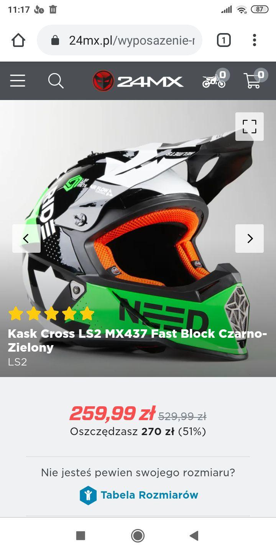 Kask motocrossowy LS2 MX437