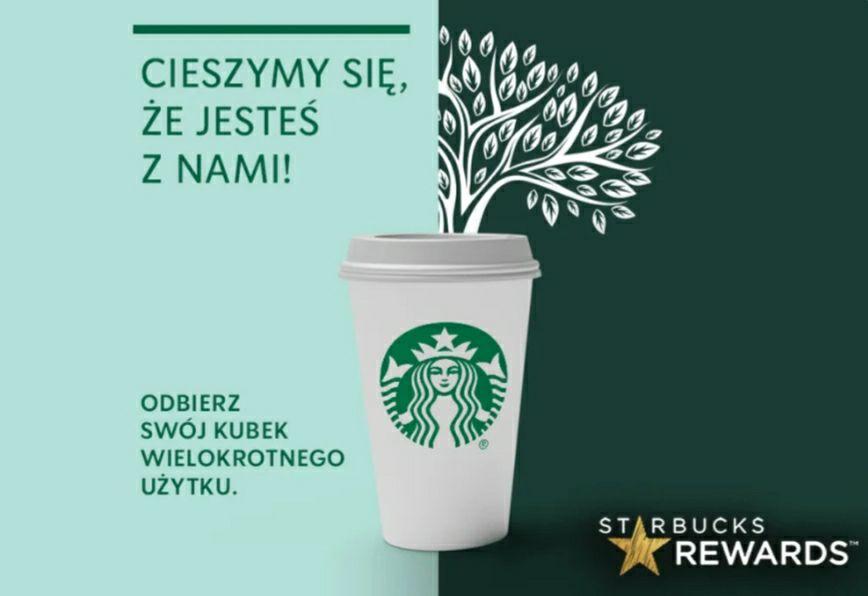 Darmowy kubek Starbucks za doładowanie karty lojalnościowej