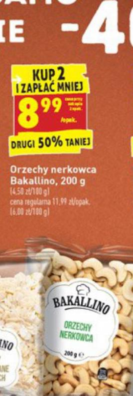 Orzech nerkowca 3,66zł /100g w Biedronce przy zakupie 2 opakowań (opakowanie 300g)