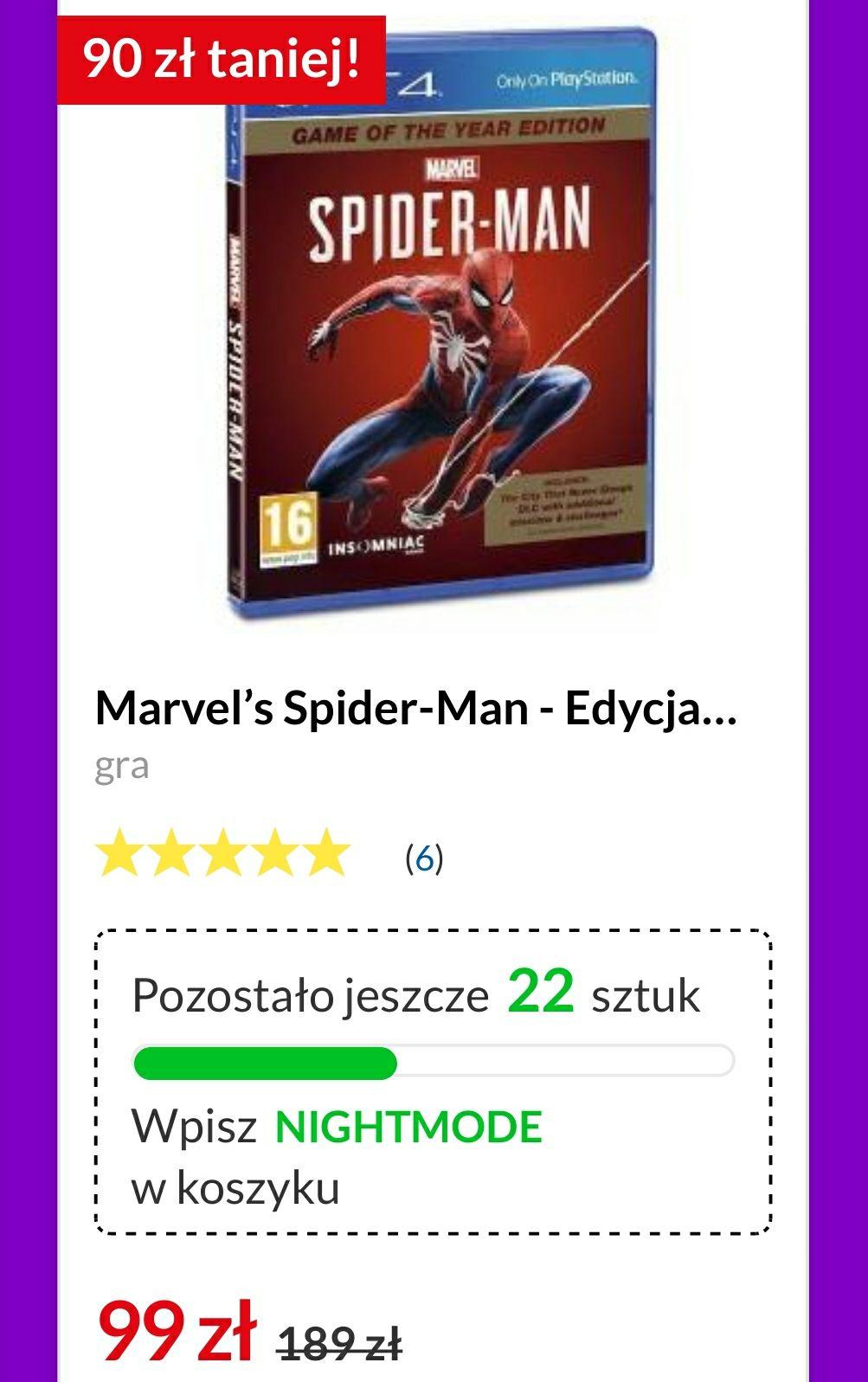 [PS4] Spider-Man GOTY w Euro RTV