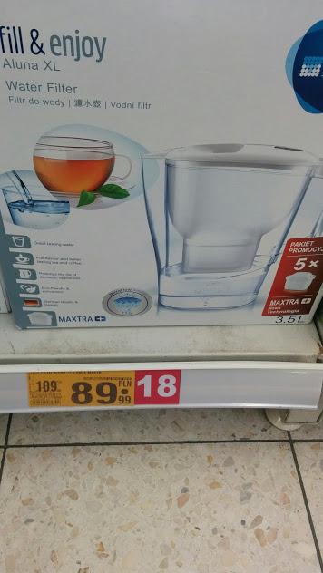 BRITA fill&enjoy Aluna XL biały + 5 wkładów MaxtraPlus Auchan