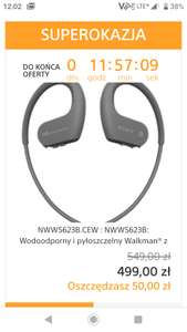 Walkman Sony NW-WS623