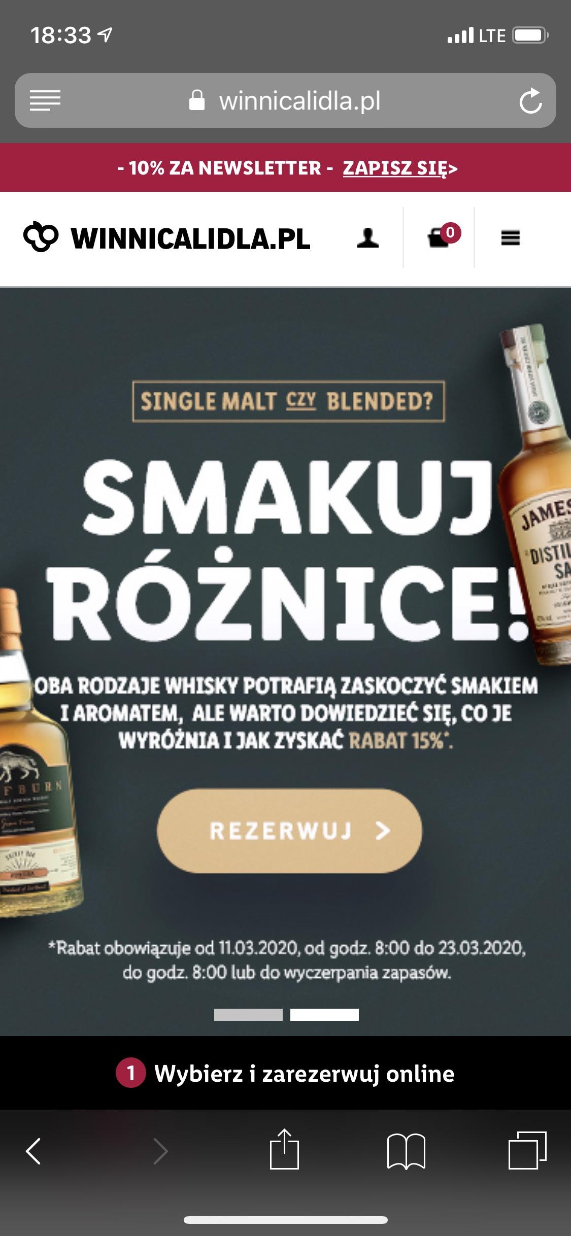 -15% przy zakupie 3 butelek whisky z kolekcji
