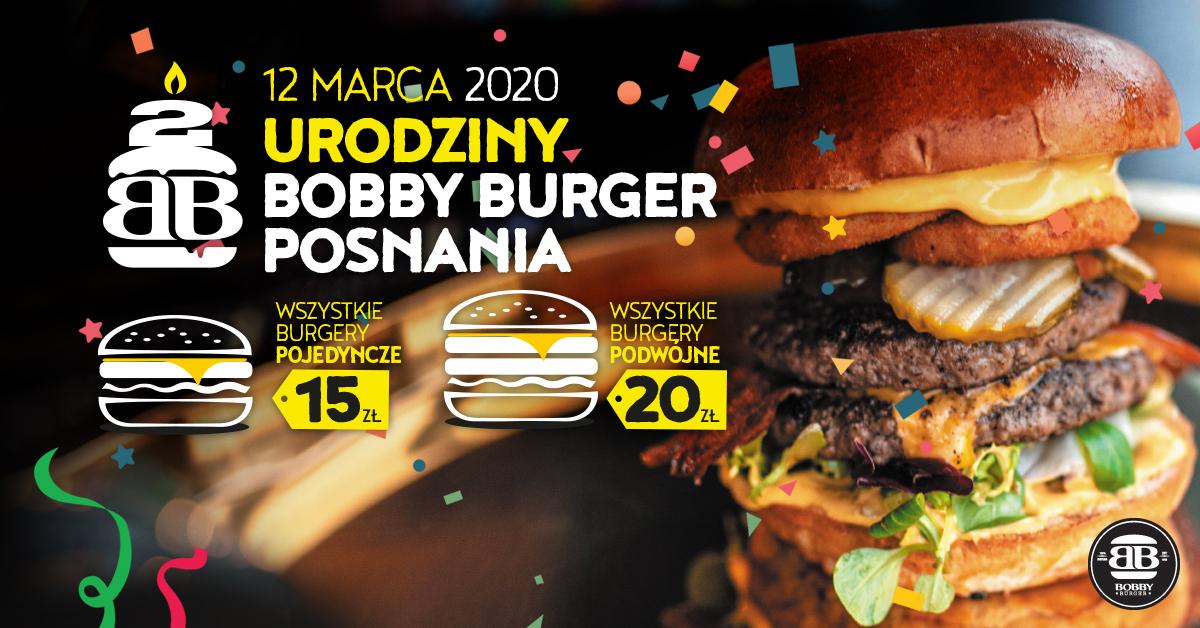 Bobby Burger Posnania - Burgery pojedyncze za 15 zł, a podwójne za 20 zł