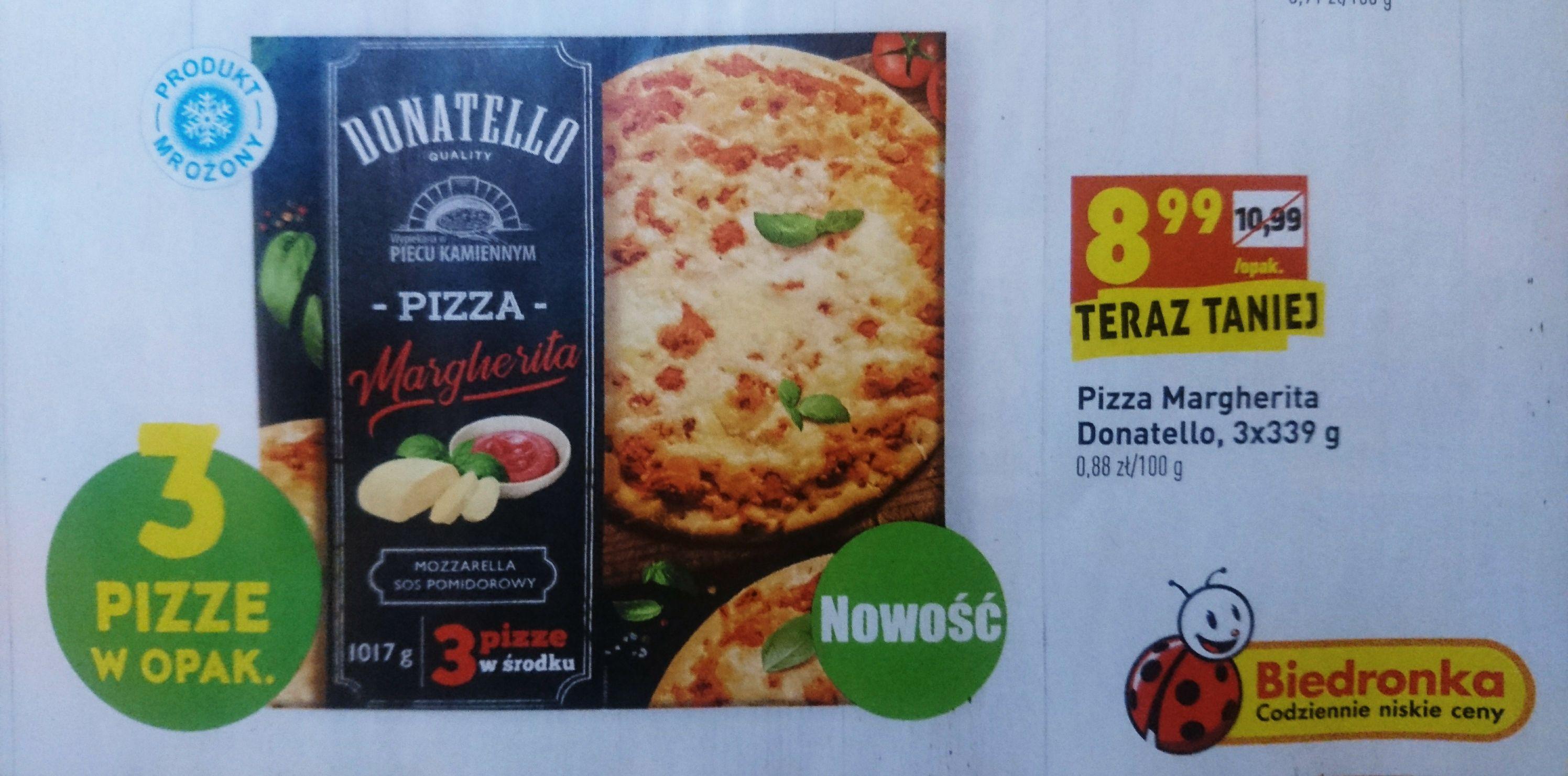 Pizza Margherita Donatello 3x339g=1017g