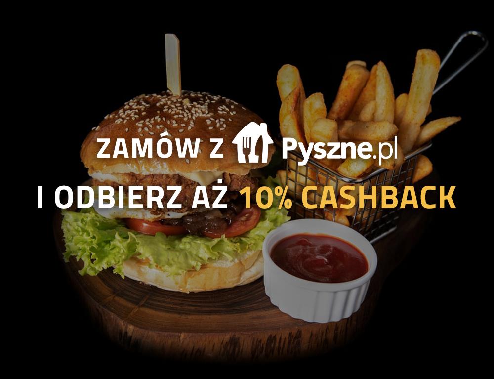 10% cashbacku na Pyszne.pl