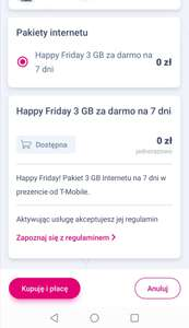 T-Mobile 3 GB na 7 dni w Happy Friday