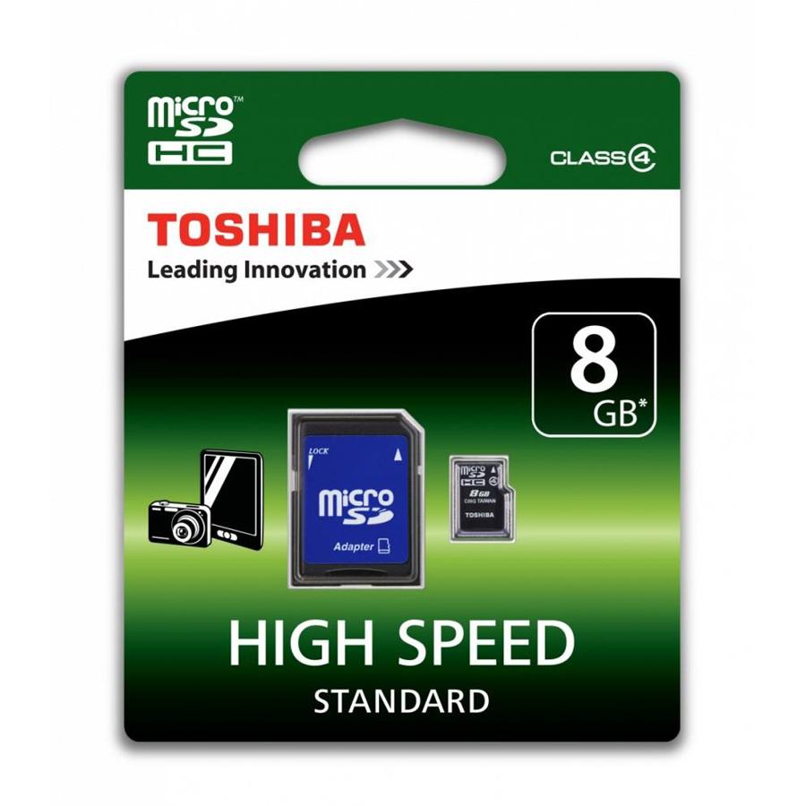Toshiba 8GB microSDHC + adapter SD