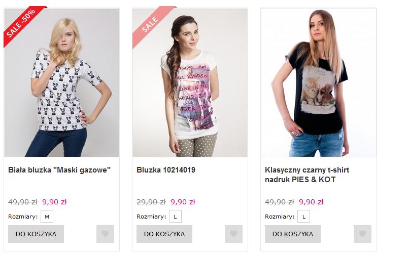 Factory Price/ Wszystkie damskie koszulki po 9,90/ najtańsza dostawa 8,99 zł