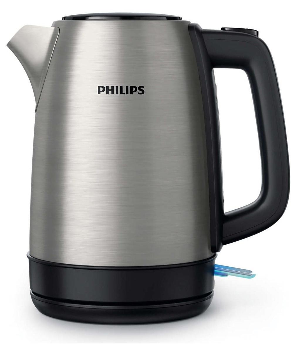 Stalowy czajnik elektryczny PHILIPS HD9350/91, poj. 1,7 L, 2200W