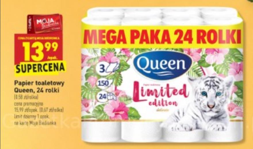 BIEDRONKA: Papier toaletowy Queen 24 rolki