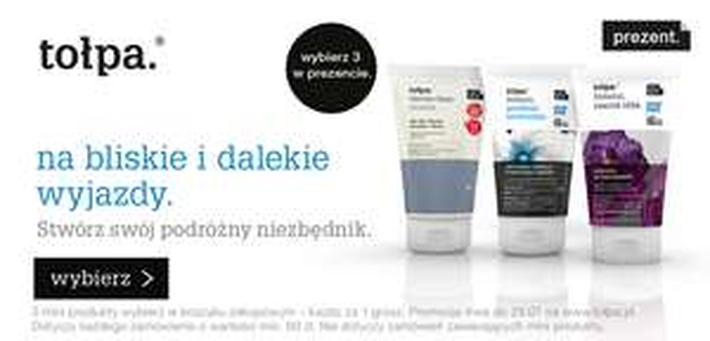 3 mini-produkty GRATIS do zakupów od 60zł @ Tołpa